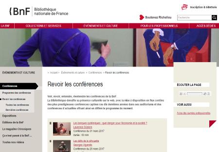 Les Conférences de la BNF
